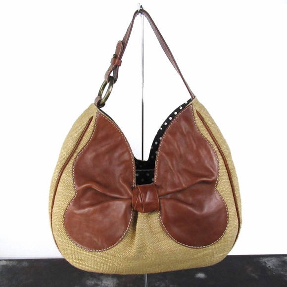 7af25f54c32 Moschino Cheap & Chic Bow Rattan & Leather Hobo.  M_5b36d96bd6dc522b3472f548. Other Bags ...